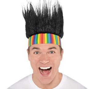 Rainbow Crazy Hair Headband