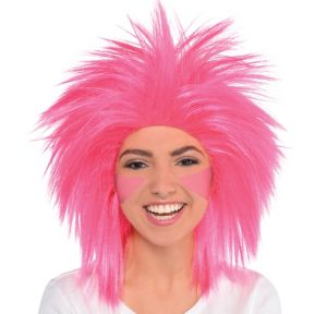 Pink Crazy Wig Party City