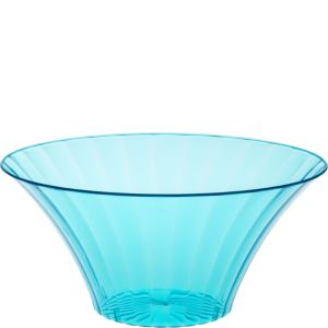 Caribbean Blue Plastic Flared Bowl