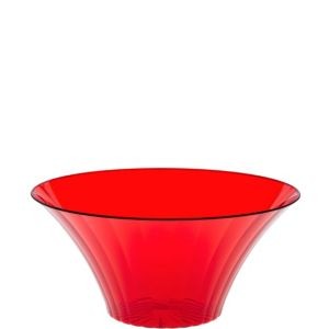 Red Plastic Flared Bowl