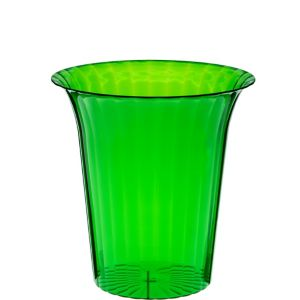 Kiwi Green Plastic Flared Cylinder Container