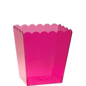 Small Bright Pink Plastic Scalloped Container