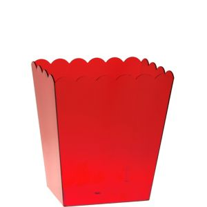 Red Plastic Scalloped Container