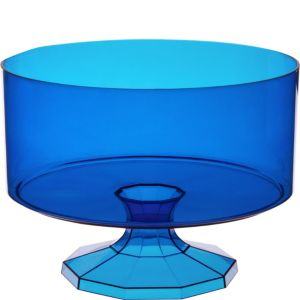 Large Royal Blue Plastic Trifle Container