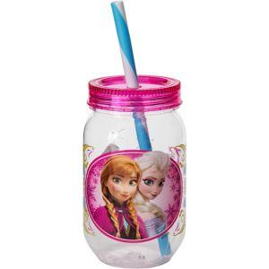 Anna & Elsa Frozen Mason Jar Tumbler