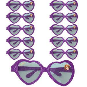 Sofia the First Glitter Heart Glasses 24ct