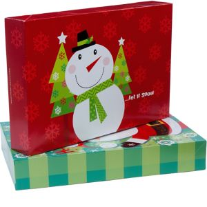 Whimsical Christmas Clothing Boxes 2ct