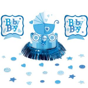 Blue Stroller Baby Shower Table Decorating Kit 23pc