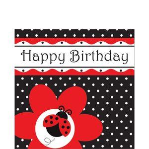 Happy Birthday Fancy Ladybug Lunch Napkins 16ct