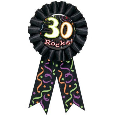 30 Rocks 30th Birthday Award Ribbon