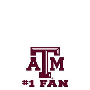 Texas A&M Aggies #1 Fan Decal