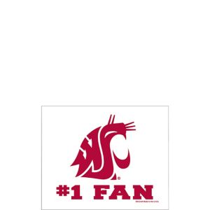 Washington State Cougars #1 Fan Decal
