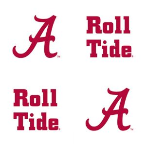 Alabama Crimson Tide Face Tattoos 4ct
