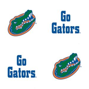 Florida Gators Face Tattoos 4ct