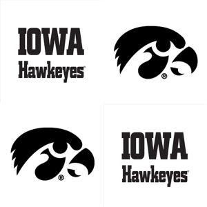 Iowa Hawkeyes Face Tattoos 4ct