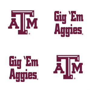 Texas A&M Aggies Face Tattoos 4ct