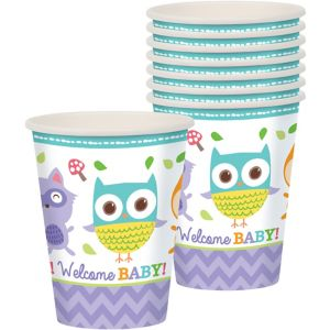 Woodland Baby Shower Cups 8ct