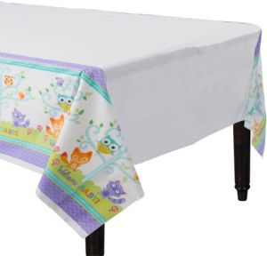 Woodland Baby Shower Table Cover