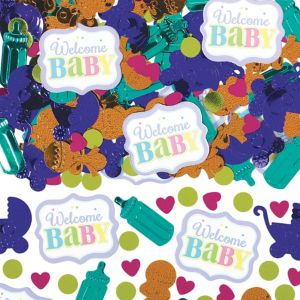 Bright Carriage Baby Shower Confetti