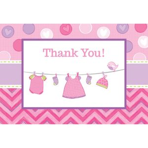 It's a Girl Baby Shower Thank You Notes 8ct