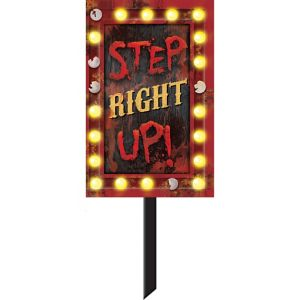 Step Right Up Yard Sign - Creepy Carnival
