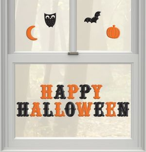 Happy Halloween Gel Cling Decals 18ct - Modern Halloween