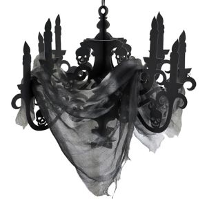 Black Paper Candelabra - Haunted House