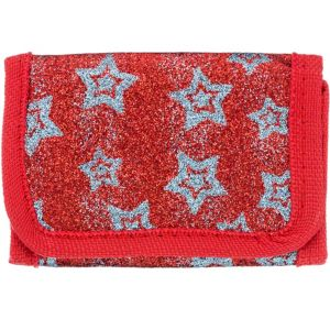 Red Star Glitter Wallet