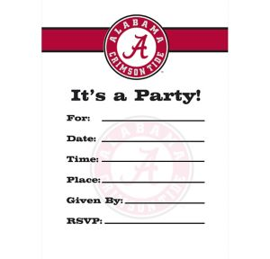 Alabama Crimson Tide Invitations 8ct