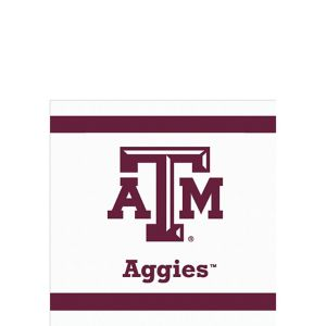 Texas A&M Aggies Beverage Napkins 24ct