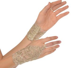 Gold Lace Glovelettes