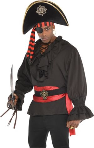 Black Pirate Shirt Deluxe
