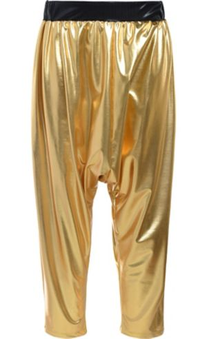 Gold Hip Hop Parachute Pants