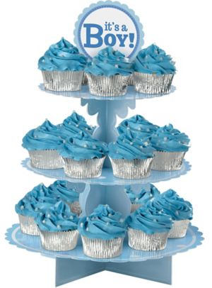 It S A Boy Cupcake Stand 11 1 2in X 15 1 4in Party City