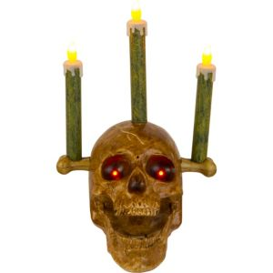 Light-Up Animated Skull Candelabra