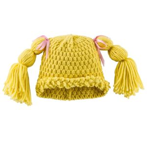 Blonde Rag Doll Pigtails Beanie