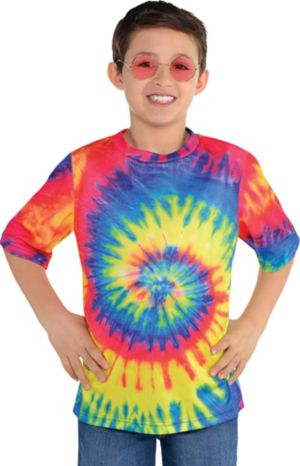 Child 60s Hippie Tie-Dye T-Shirt