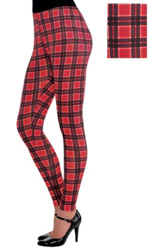 Geek Chic Red Plaid Leggings