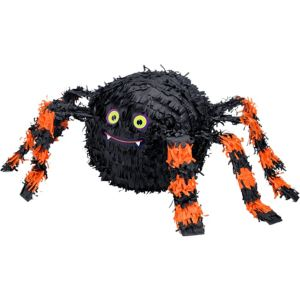 Orange & Black Spider Pinata 18in x 14in - Party City