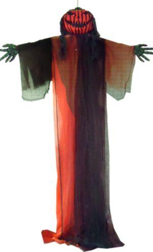 Giant Light-Up Hanging Evil Jack-o'-Lantern