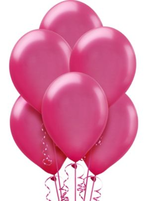 Bright Pink Pearl Balloons 72ct