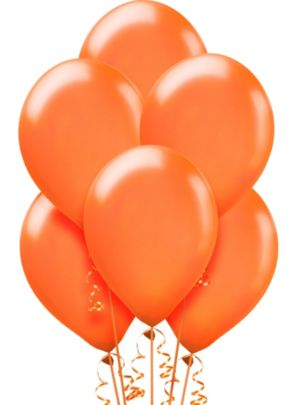 Orange Pearl Balloons 72ct