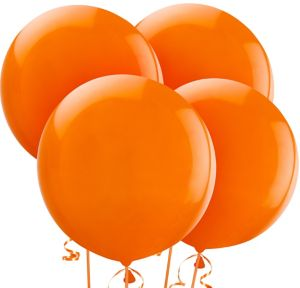 Orange Balloons 4ct