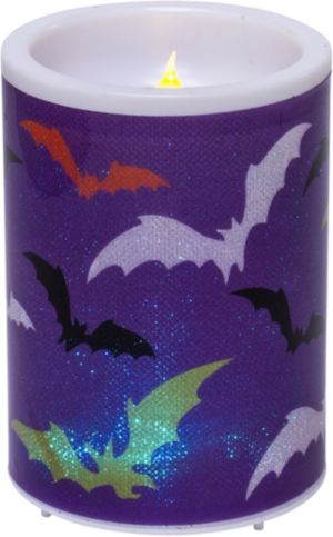 Bat Flameless Pillar Candle
