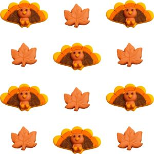 Turkey Icing Decorations 12ct
