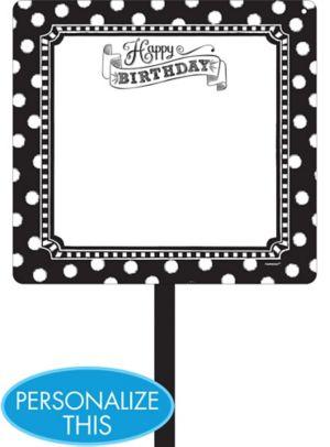 Black & White Birthday Blank Yard Sign