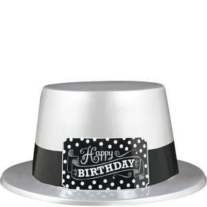 Black & White Birthday Top Hat