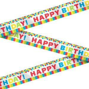 Metallic Rainbow Birthday Banner