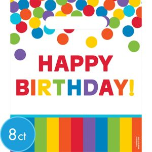 Rainbow Birthday Favor Bags 8ct
