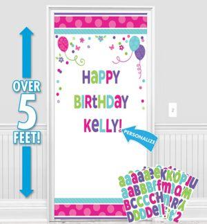 Customizable Purple & Teal Pastel Door Decorating Kit